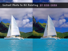 [PS Action] Instant Photo to Oil Painting by Nina-sama