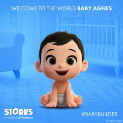 Agnes Gru as a Baby in Storks by Daisies-Sunshine