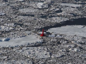 Winter Channel Marker at Poughkeepsie by TheMightyQuinn
