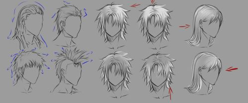 Male hair and lighting by moni158
