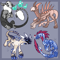 Creature Point Adopts Auction [CLOSED - Part one] by LordStarsCreamy