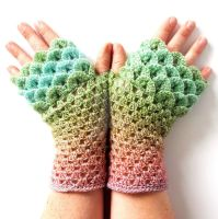 Juicy Dragon Gloves by FearlessFibreArts