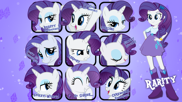 Rarity Quotes Wallpaper by MrPiBB-93
