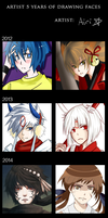 5 Years of Faces Meme by A1RI