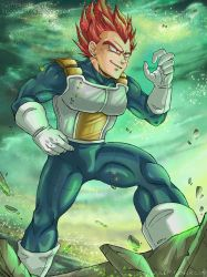 DBS - Brolly Movie 2018 - SSJ God Vegeta by RedViolett