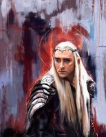 Thranduil - The battle of the five armies by WisesnailArt