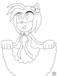 Amy Rose n.15 lineart by aprict