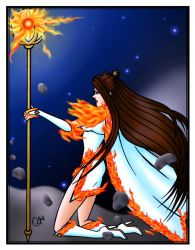 Sailor Solarion Apparition Colored Version by JoJiaMystie