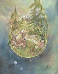 The World, Black forest Tarot by miorats