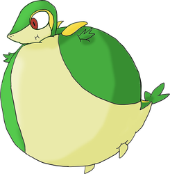 COM - Snivy inflated by JuacoProductionsArts
