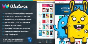 Westeros Custom Clothing PSD Template by odindesign