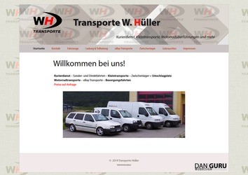 WH Transporte Website - Relaunch 2014 by RoqqR