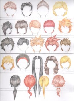 Natural Hair Color Hairstyles: Male Version by errisirre