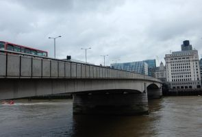 View of London Bridge from the South Bank by rlkitterman