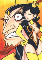 The Monarch sketch card by KidNotorious
