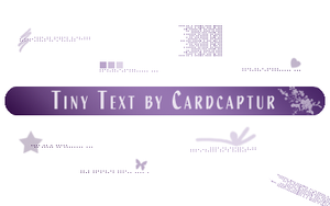 Tiny Text Brushes 2: PS 7.0 by cardcapturs