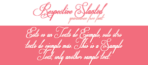 Respective Slanted Free Font by YourSource