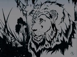 Daydreaming Lion by phantomonex