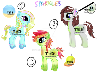 [OPEN] CHEAP PONY ADOPTS *Sparkles* PAYPAL by TheShirou