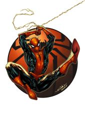 Amazing Spider-Man circle - Alonso Espinoza colors by SpiderGuile