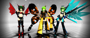 MMD CYBER GUMI PACK DOWNLOAD by megpoid625