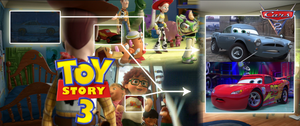 Pixar Cars 2 easter egg in Toy Story 3 found by perbrethil