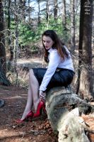 MLP JessicaG Leather Skirt Red Heels Apr17 4115 by MichaelLeachPhoto
