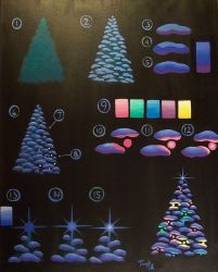 Glowing Christmas Tree Painting Tutorial by katTink