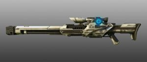 real time sci fi gun.based on Jim Svanberg art by David-J