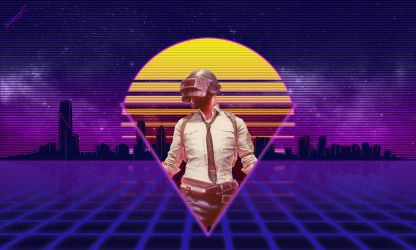 Retrowave PUBG by Mrlemonoid