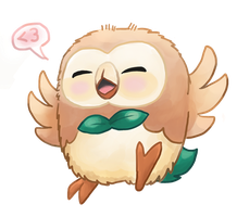 Rowlet Bab by Illogical-Arguement