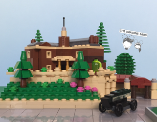 Lego-mansion by TheImagineEars