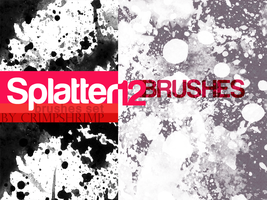 SPLATTERS12-  brush set by hugorr