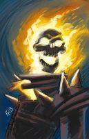 Ghost Rider - This Morning's Warmup by EryckWebbGraphics