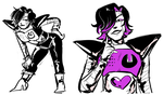 mettaton doodles by awsmstevie