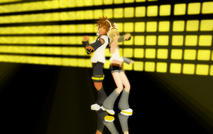 Sora and Namine Kagamine (+DL) by Paopoupowa