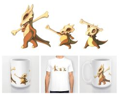 Cubones and Marowak Shirt, Mugs, etc.