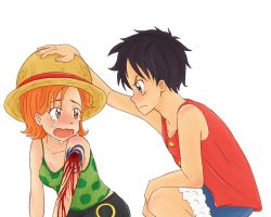 Ruffy and Nami by Anigh