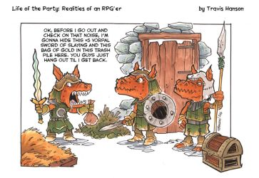 kobolds and vorpal swords: RPG Comic by travisJhanson