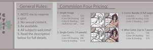 Commission Pricing Cycle #4 (Not yet open) by AvoraComics