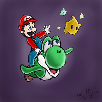 Mario and Yoshi by Thinktink606432