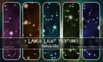 Light Textures - Pack III (Nebulae) by MagnifiqueN