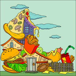 House Of Junkfood. by catdragon4