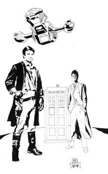 Captain and The Doctor Inked RAW by 7daywalk