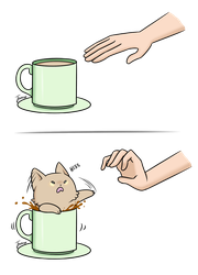 YOU 'BOUT TO CATCH THESE PAWS SON! (Tea cat) by Jonerico