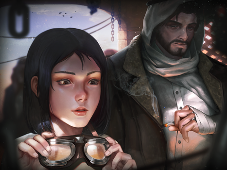 Somewhere in desert by Louie-Oh