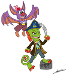 AT: Captain Yooka and Laylee by Aso-Designer