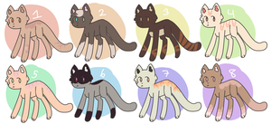Cute Cat Adopts [OPEN][CHEAP][7/8] by alliemews