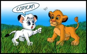 Kimba VS Simba by Fadri