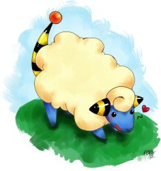 Playful Mareep by ShiOkami-chan